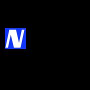 Blanc et bleu simple ordinateur logo 1